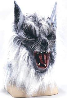 Mörder Wolf Maske in grau (Auf Halloween Eine Budget Kostüme)