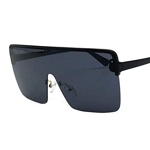 TIANKON Oversize Half Frame Square Sonnenbrille Frauen Schutzbrille Uv400 Schutzbrille,A2d