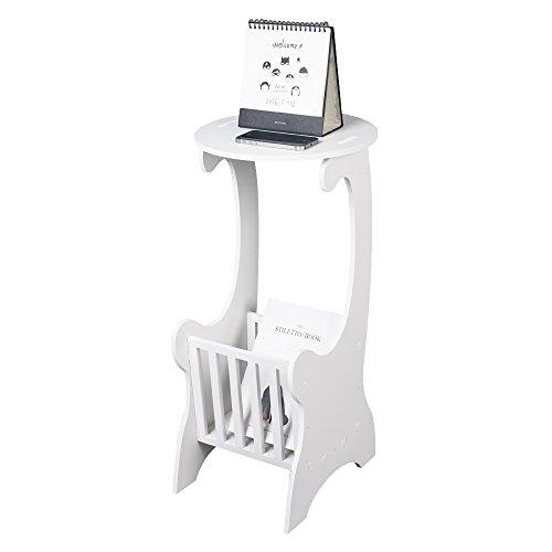 TOP-MAX Nachttisch Nachtschrank Weiß Runden Beistelltisch Schrank Shabby Vintage für Schlafzimmer Wohnzimmer
