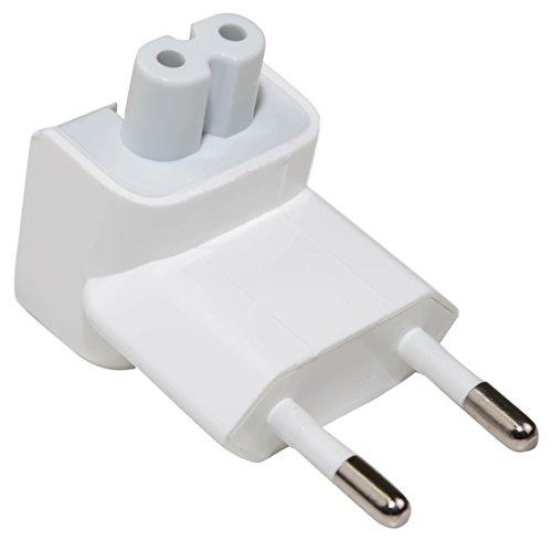 e-port24® Eurostecker Duckhead EU 2 Pin Power Plug Adapter kompatibel mit/Ersatz für Apple Power Adapte Plug Power Adapter