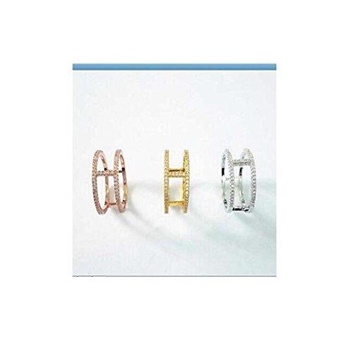 GYJUN Ringe Modisch Alltag / Normal Schmuck Sterling Silber / Zirkon Damen Bandringe 1 Stück,6 / 7 / 8 / 9 Goldfarben / Rosé / Silber , 7 (Adizero Rose 1)