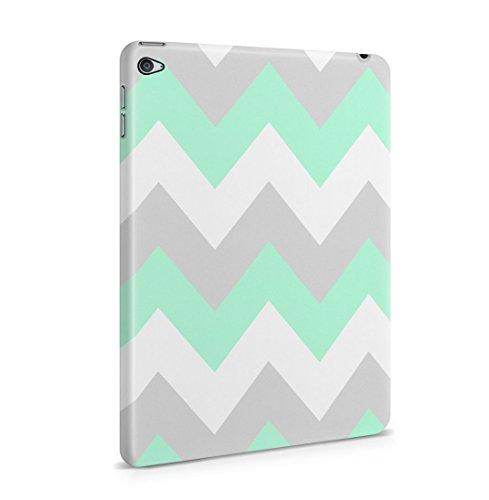 Mint Green Chevron Print Patttern Dünne Rückschale aus Hartplastik für iPad Mini 4 Tablet Hülle Schutzhülle Slim Fit Case cover (Mini-swag)
