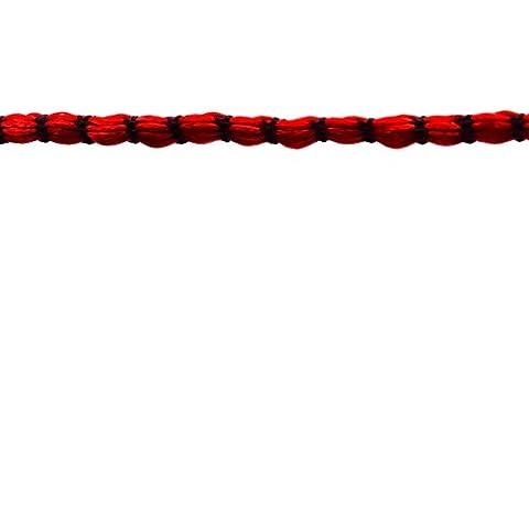 Nudo de la joyería de bricolaje rebordear cable de cola de rata de cuerdas de nylon trenzado Kumihimo 9 yardas 2 MM