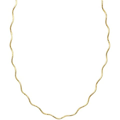 1,3 mm, placcato oro, argento Sterling 925, Catenina Omega torsione