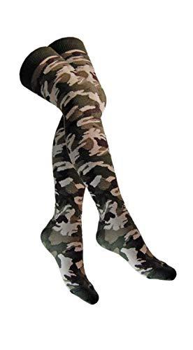 Doktor Hardstuff Overknee Socken Militär Camouflage