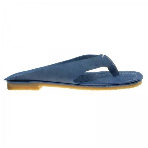 - Nu-pieds cuir pointure - , Couleur - Bleu