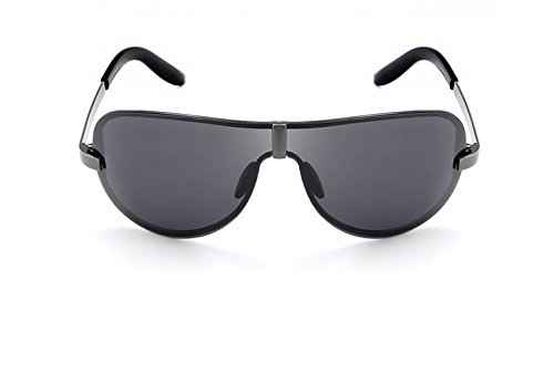 Man&Y Erwachsene Sonnenbrille, Rahmenlose Mode Sonnenbrillen Pilot Polarisierte Mens Sonnenbrille Gläser Mode Sonnenbrillen Große Sonne Polaroid Sonnenbrille Schutzbrillen UV400 Spiegel Für Mann Frau