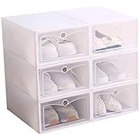 ZiXingA Cajas de Zapatos de plástico Transparente Apilable, Tamaño de la Caja de Zapatos Contenedores