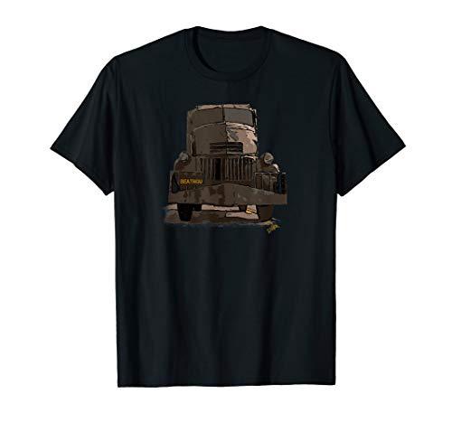 Fahrer Lkw Kostüm - Retro vintage Truck - gruseliger LKW - Creepy halloween T-Shirt