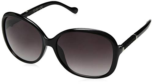 Jessica Simpson J5393 Ox Non-Polarized Iridium Runde Sonnenbrille, Schwarz, 70 mm