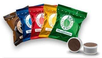 4x50 capsule borbone point degustazione 50 nera, 50 blu, 50 red, 50 oro compatibili espresso point