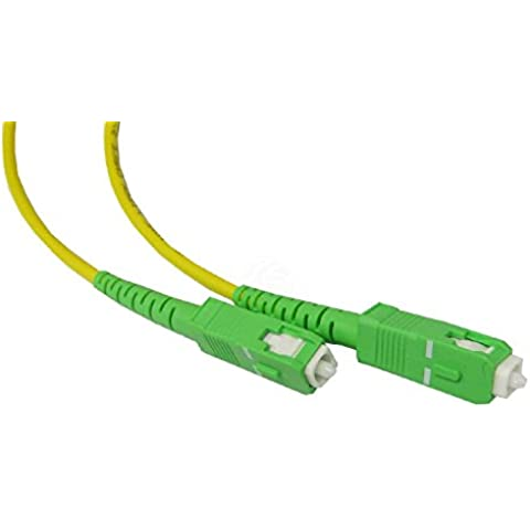 Cable de fibra óptica SC/APC monomodo simplex 9/125 de 3 m