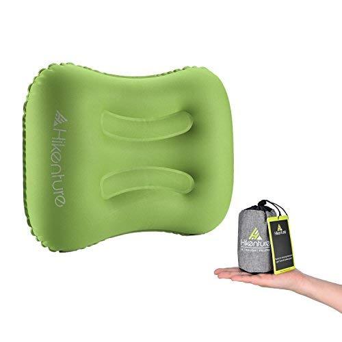 Hikenture Camping Kopfkissen Leichtes Reisekissen - Aufblasbares Kopfkissen - Luftkissen Nackenkissen - Camping Pillow für Camping, Reise, Outdoor, Büro (Grün)