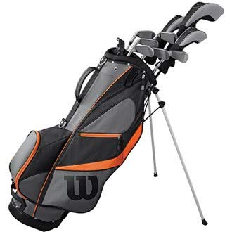 WILSON Golf 2019 Herren X31 Complete Graphite Shaft Package Set Stand Bag - RH Graphite Stand Bag Black/Grey/Orange