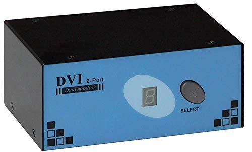Cablematic Uniclass KVM Switch PS2 DVI 1280x1024 Video 1KVM ein Dual 2CPU