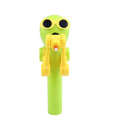 Hffan Kinder Kreative Essen Roboter Lollipops Halter Nette Lutscher Stand Kreatives Lutscher-Artefakt-lustiger Essenlutscher-Roboter Geschenke Baby Spielzeug