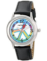 red-balloon-kids-w000341-peace-love-and-happiness-tween-stainless-steel-black-leather-strap-watch