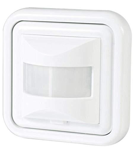 LED ATOMANT Detector Presencia, Sensor Pared empotrable Standard 160º. Compatible LED. Interruptor automático por Movimiento, 300 W, BLANCO, 10 x 8 x 8 cm