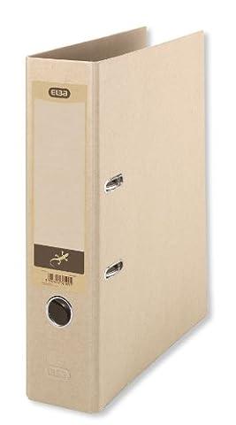 ELBA 100202208 Umwelt-Ordner Touareg 8 cm breit DIN A4 Recycling beige Öko Ringordner Aktenordner Briefordner Büroordner