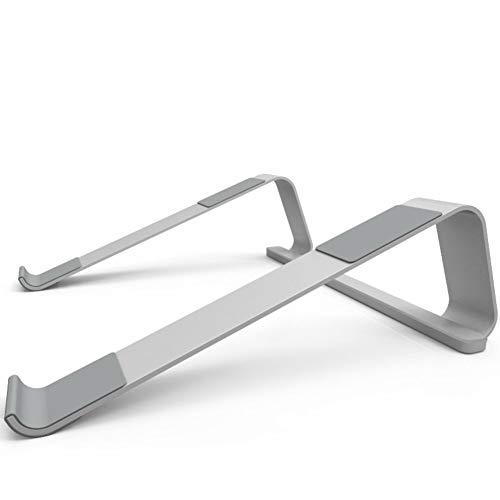 DULPLAY Portable Anti-rutsch Laptop ständer, Zerlegbare Laptop-Halter Belüftet Laptop ständer Für Laptop(11 Zoll ~ 17 Zoll)-Silber 30x25.5x9.2cm(12x10x4inch) - Terrasse Tv-ständer