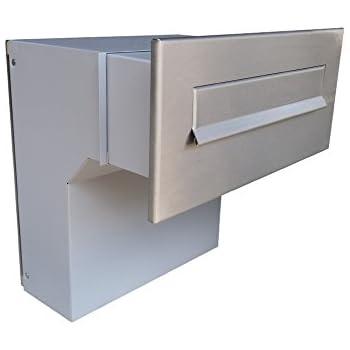 Targhetta Cassetta Postale.Letterbox24 De Cassetta Postale Da Parete In Acciaio Inossidabile Profondita Variabile F04 Senza Targhetta Nome