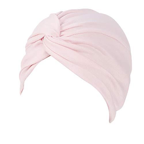 Indische Kopfschmuck Kostüm Rosa - Lazzboy Frauen-Indien-Hut moslemischer Rüsche Beanie-Turban-Wickelkappen-Winter-Hut Damen