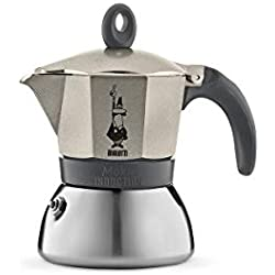 Bialetti - Cafetière Moka Induction - 3 tasses - 15cl - Or (Light Gold)
