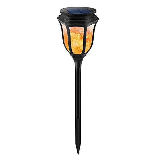 EXTSUD 2er Solarleuchte Außen Solar Laterne Flackernde Flammenlampe Garten Fackeln Lampe