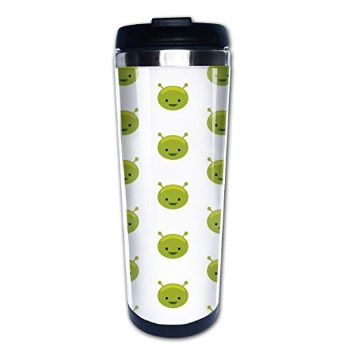 Alien Face Multi Insulated Stainless Steel Travel Mug 14 oz Classic Lowball Tumbler with Flip Lid