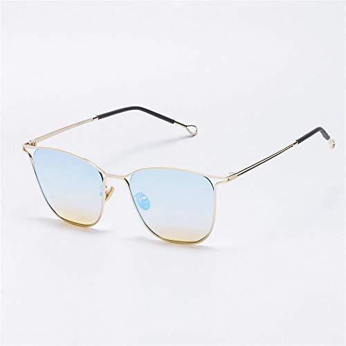 MJ Glasses Sonnenbrillen Netto rote kleine quadratische hohle Männer und Frauen, A