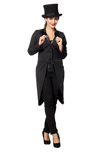 L3200150-48 Damen Theater Frack schwarz (Für Kinder Kabarett Kostüme)