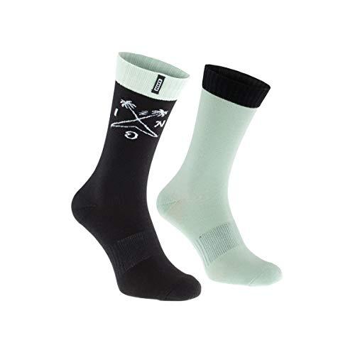 Ion Scrub Fahrrad Socken Mint grün/schwarz 2020: Größe: 43-46