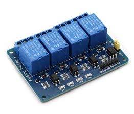 Jolicobo 4 canales DC 5V Módulo de relé Tarjeta de expansión Módulo de relé de seguridad Placa del módulo con optoacoplador para Arduino Raspberry Pi DSP AVR PIC ARM K49