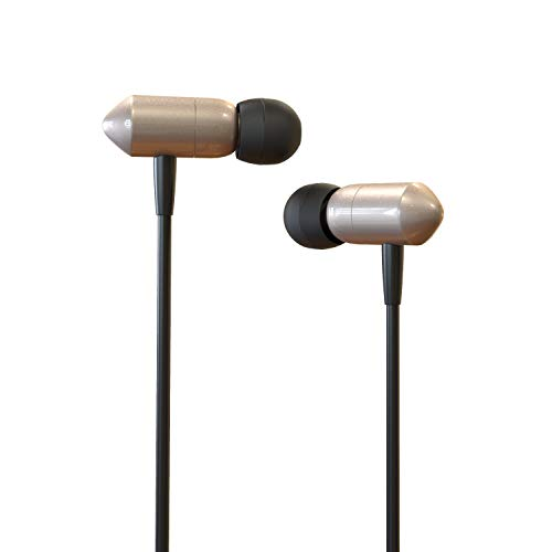 Boltt Atomic Smart in-Ear Extra Bass Metal Earphone Headset with Microphone with Free Fitness App Subscription (Golden)