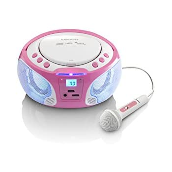 Lenco SCD-650 Kinder CD-Player mit Mikrofon, Karaoke