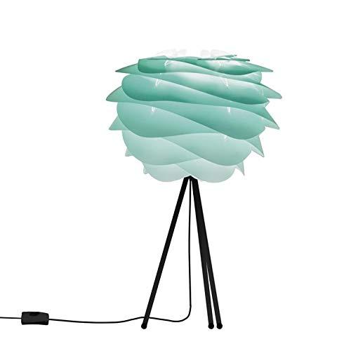 CARMINA - Lampe à poser Tie & Dye Turquoise/Trépied Noir Ø32cm - Lampe à poser Vita designé par William Ravn