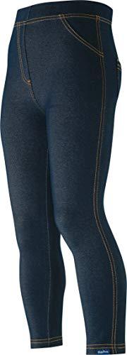 Playshoes Unisex Baby Lang Jeans-Optik Leggings, Blau (Original 900), (Herstellergröße: 80)