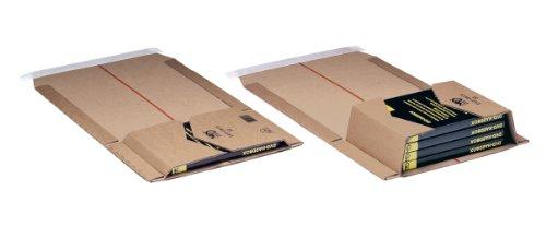 NIPS 145591001 EASY-PACK 52 Wickel-Versandverpackung höhenvariabel, 155 x 215 x H bis 58 mm, 10er Packung braun