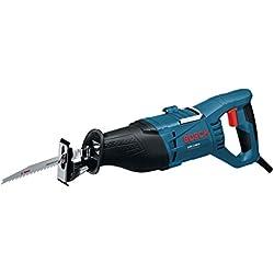 Bosch Professional Scie sabre GSA 1100 E (1100 W, Profondeur de coupe dans le bois : 230 mm, 2 lames de scie sabre (pour bois ou métal), Coffret)