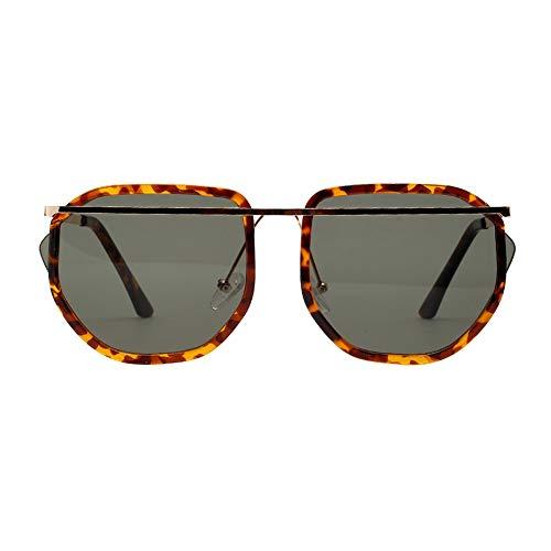 EFINNY Frauen übergroße Sonnenbrille Retro Polygon Frame Sonnenbrille Light Summer Eyewear