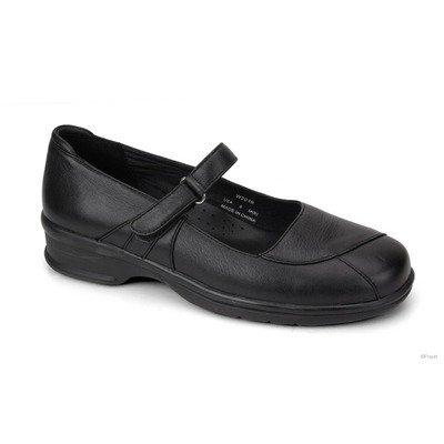 Propet Women's Mary Jo Walker Slides,Black Leather,7.5 XW Formale Slip