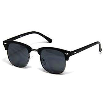 Retro Clubmaster Wayfarer Sunglasses Mens Womens Fashion Vintage Half Frame