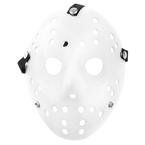LUOEM Cosplay Kostüm Maske Gruselige Party Maske Maskerade Maske Halloween Gesicht Maske Kostüm (Voorhees Maske)