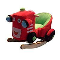 NEW Plush Red Tractor Childs Rocker Rocking Chair with Sound Effects - 1 Year + **Tractor WJ-660**