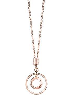 Guess Damen Halskette Metall Rosegold Around the World UBN61012