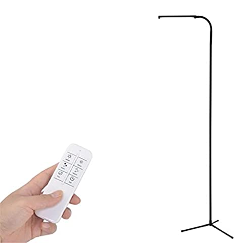 H&M Modern Dimmable LED Floor Lamp Light For Living Room Bedroom With Touch Switch And 6 Feet Remote Control (12 Level Adjustment, 3000-6000K, 6W 500 Lumens Ultrahigh Brightness, 10 Color Temperatures, )