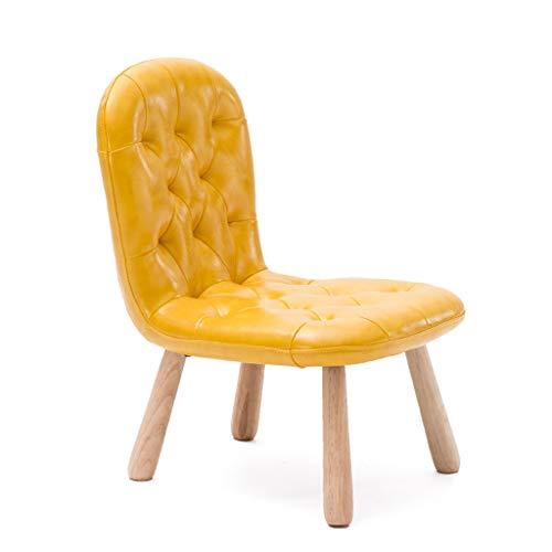 MGMDIAN Einfache Domäne Massivholz Kinder Stuhl Baby Stuhl niedrigen Hocker Kindergarten Schreibstuhl kleine Stuhl nach Hause Sofa Stuhl zu Lernen Klappstuhl im Freien (Farbe : Gelb) -