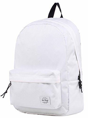 SIMPLAY Classic School Backpack, 44x30x12.5cm, 18 Liters, White (Calculator Basic)