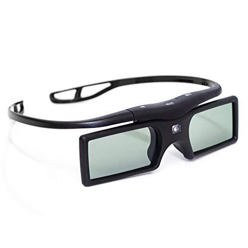2x Occhiali 3D attivi shutter 3D (funzionamento a batteria) in nero per BLUETOOTH 3D TV / brand PRECORN
