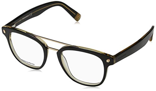Dsquared2 dq5232, occhiali da sole unisex-adulto, (nero/altro), 50.0
